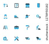 architecture icons colored set... | Shutterstock . vector #1278950182