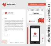 heart beat  business letterhead ...   Shutterstock .eps vector #1278956755