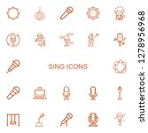 editable 22 sing icons for web... | Shutterstock .eps vector #1278956968