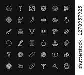 editable 36 slice icons for web ... | Shutterstock .eps vector #1278957925