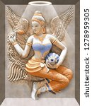 dhanlaxmi ancient stone carving ... | Shutterstock . vector #1278959305