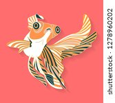 fish label design. abstract... | Shutterstock .eps vector #1278960202