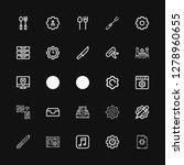 editable 25 setting icons for... | Shutterstock .eps vector #1278960655
