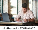 checking the results. adult man ... | Shutterstock . vector #1278962662