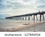 Landscape Shot Of Fishing Pier...