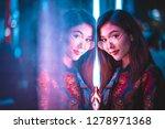 beautiful mixed race woman... | Shutterstock . vector #1278971368