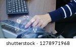 close up employee call center... | Shutterstock . vector #1278971968