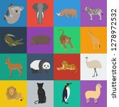 different animals cartoon icons ... | Shutterstock .eps vector #1278972532