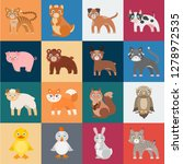 toy animals cartoon icons in... | Shutterstock .eps vector #1278972535