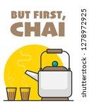 vector illustration of tea pot...   Shutterstock .eps vector #1278972925