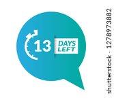 13 days left sign   emblem ...