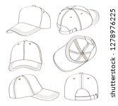 baseball cap set.  ... | Shutterstock . vector #1278976225
