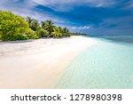 maldives paradise beach.... | Shutterstock . vector #1278980398