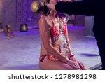young woman in red bikini...   Shutterstock . vector #1278981298