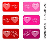 set of gift cards or discount...   Shutterstock .eps vector #1278981922