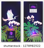 set of two templates for label...   Shutterstock .eps vector #1278982522