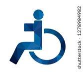 vector handicapped icon    Shutterstock .eps vector #1278984982