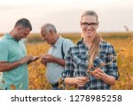 group of farmers standing in a... | Shutterstock . vector #1278985258