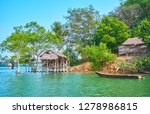 the old nipa hut of the local... | Shutterstock . vector #1278986815