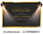 luxury certificate with... | Shutterstock .eps vector #1278988855