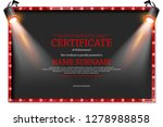 luxury certificate with... | Shutterstock .eps vector #1278988858