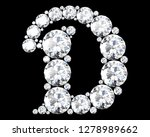 diamond letters with gemstones... | Shutterstock . vector #1278989662