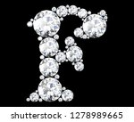 diamond letters with gemstones... | Shutterstock . vector #1278989665
