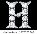 diamond letters with gemstones... | Shutterstock . vector #1278989668