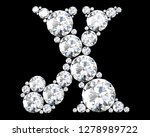 diamond letters with gemstones... | Shutterstock . vector #1278989722