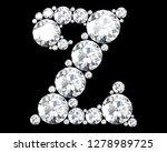 diamond letters with gemstones... | Shutterstock . vector #1278989725