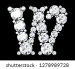 diamond letters with gemstones... | Shutterstock . vector #1278989728