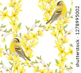 spring seamless pattern with... | Shutterstock .eps vector #1278995002
