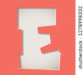 letter cut out on a cardboard.... | Shutterstock .eps vector #1278998332
