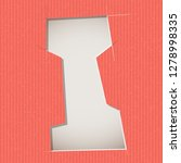 letter cut out on a cardboard.... | Shutterstock .eps vector #1278998335