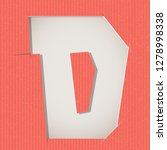 letter cut out on a cardboard.... | Shutterstock .eps vector #1278998338