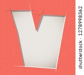 letter cut out on a cardboard.... | Shutterstock .eps vector #1278998362