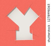 letter cut out on a cardboard.... | Shutterstock .eps vector #1278998365