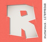 letter cut out on a cardboard.... | Shutterstock .eps vector #1278998368