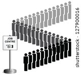 unemployed people queuing at a... | Shutterstock . vector #127900016
