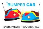 bumper car vector. attraction... | Shutterstock .eps vector #1279000462