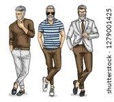 man models dressed in pants ... | Shutterstock . vector #1279001425