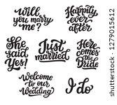 set of hand drawn lettering...   Shutterstock .eps vector #1279015612
