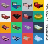 different beds cartoon icons in ... | Shutterstock .eps vector #1279017682