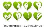 eco design element. icon set of ...   Shutterstock .eps vector #1279018408