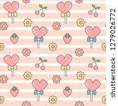 cute lovely seamless vector... | Shutterstock .eps vector #1279026772