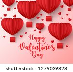 happy valentines day greetings... | Shutterstock .eps vector #1279039828
