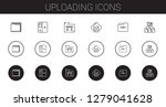 uploading icons set. collection ... | Shutterstock .eps vector #1279041628