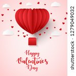 happy valentines day greetings... | Shutterstock . vector #1279049032