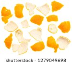 peeled tangerine peel isolated... | Shutterstock . vector #1279049698