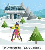 cartoon parents and little kids ... | Shutterstock .eps vector #1279050868